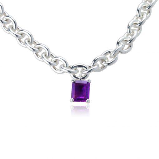 Big Rock Amethyst Necklace