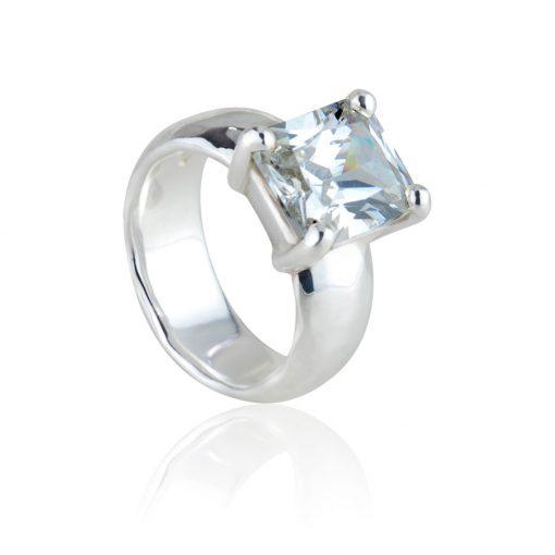 Big Rock Cubic Zirconia Ring
